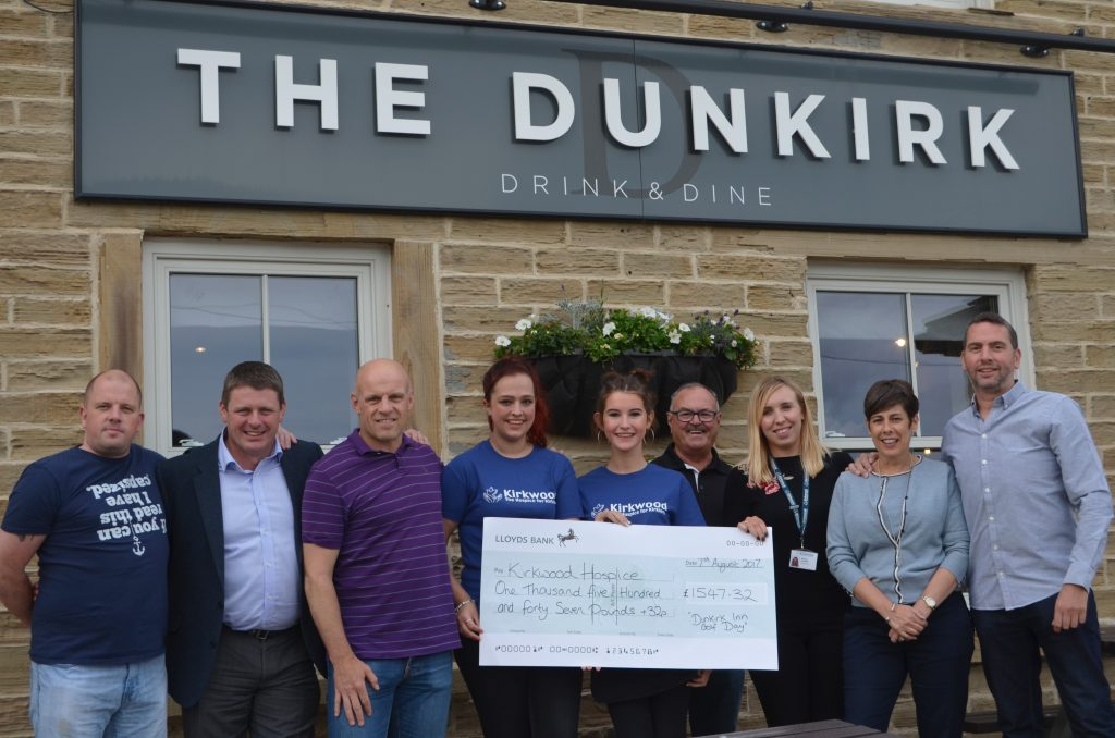 Dunkirk Charity Golf Day Cheque