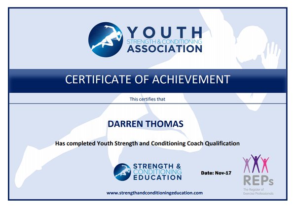 Faster Fitness Youth Strength and Conditioning Certificate