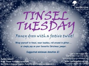 Tinsel Tuesday Laura Crane Youth Trust