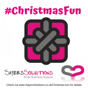 Sayers Solutions #Christmas Fun with blog address