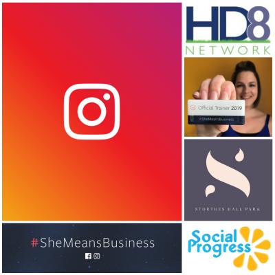 She Means Business Instagram training workshop