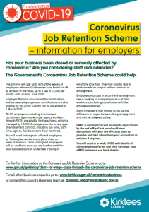 Government Job Retention Scheme - information from Kirklees Council