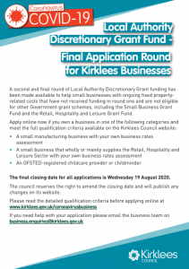 Kirklees discretionary grant fund