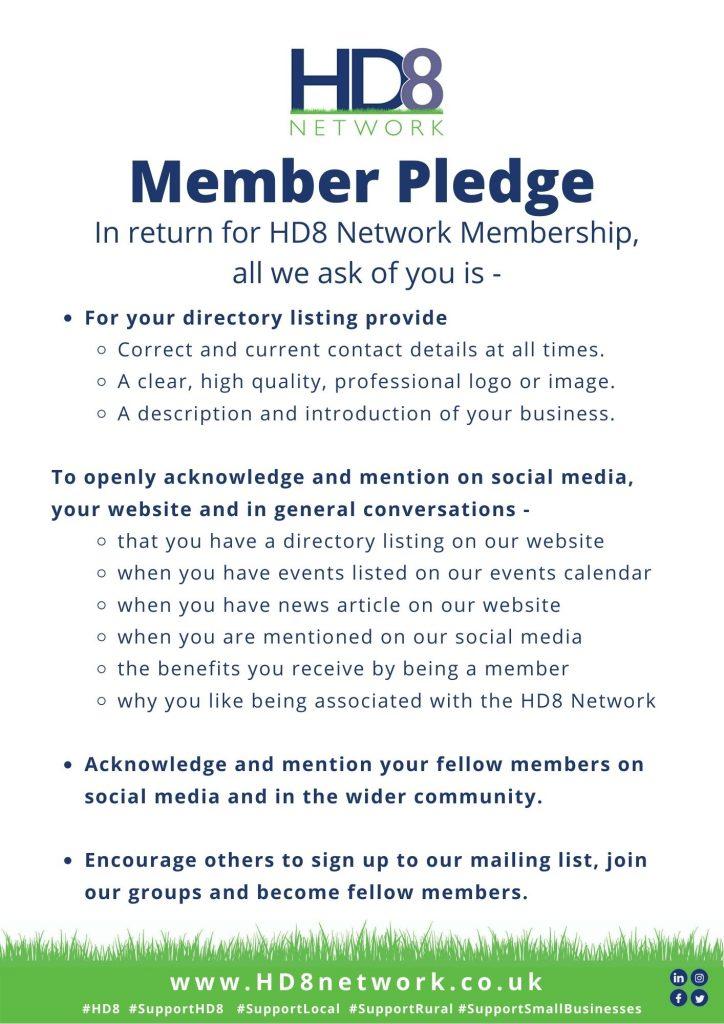Hd8 Network Member Pledge