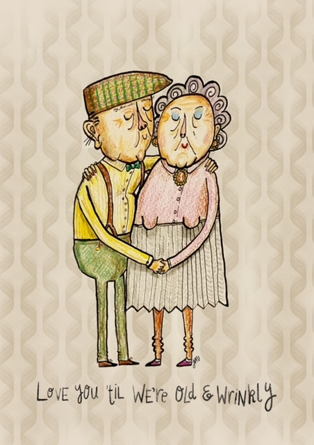 Jane Middleton Art Old and wrinkly love