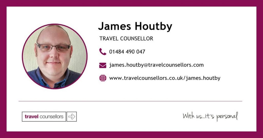 James Houtby Travel Counsellors details
