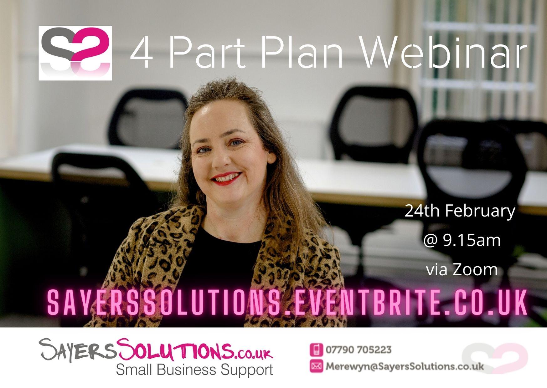 Sayers Solutions 4 Part Plan Webinar