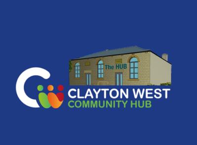 Clayton West Community Hub logo with Hub