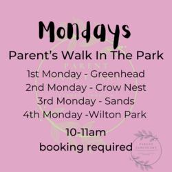 Mondays Parents walk in the park